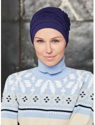 Тюрбан Loreen Bamboo 460 цвят тъмно синьо