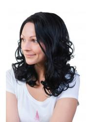 Перука от изкуствена коса Одри - в черно