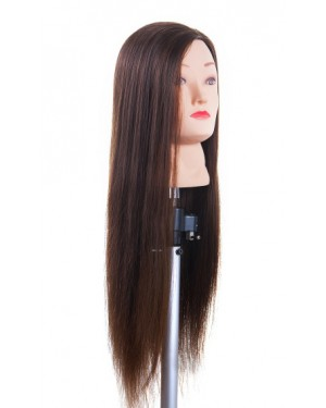Учебна фризьорска професионална глава с коса 70см Hair Pro